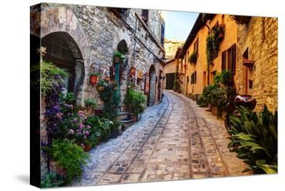 Street in Spello, Italy-Terry Eggers-Stretched Canvas Print