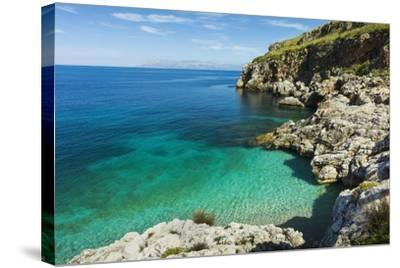 Lovely Limestone Cove at Zingaro Nature Reserve Near Scopello-Rob Francis-Stretched Canvas Print