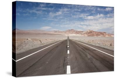 Empty Open Road, San Pedro De Atacama Desert, Chile, South America-Kimberly Walker-Stretched Canvas Print