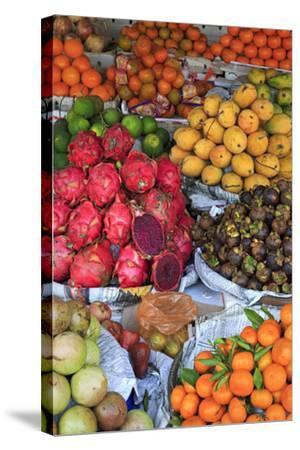 Fruit in Sihanoukville Market, Sihanouk Province, Cambodia, Indochina, Southeast Asia, Asia-Richard Cummins-Stretched Canvas Print