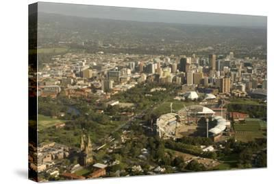 Air View of Downtown Adelaide, South Australia, Australia, Pacific-Tony Waltham-Stretched Canvas Print