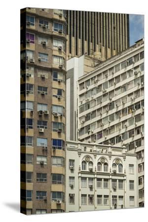 Architecture in Central Rio De Janeiro, Brazil, South America-Ben Pipe-Stretched Canvas Print