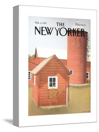 The New Yorker Cover - October 5, 1987-Gretchen Dow Simpson-Stretched Canvas Print