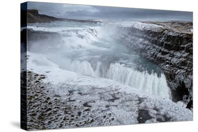Gullfoss Waterfall, (Golden Falls), Iceland--Stretched Canvas Print