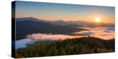 Sunrise over the Adirondack High Peaks from Goodnow Mountain, Adirondack Park, New York State, USA--Stretched Canvas Print