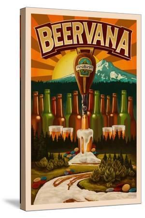 Beervana-Lantern Press-Stretched Canvas Print
