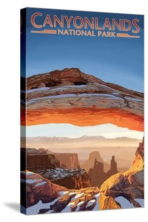 Canyonlands National Park, Utah - Arch-Lantern Press-Stretched Canvas Print