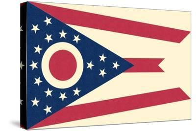 Ohio State Flag-Lantern Press-Stretched Canvas Print