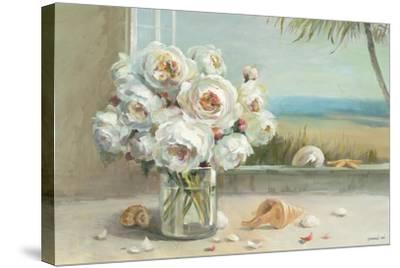 Coastal Roses v.2-Danhui Nai-Stretched Canvas Print