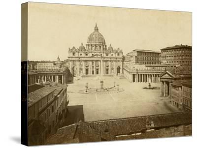 St. Peter's Square-Giacomo Brogi-Stretched Canvas Print
