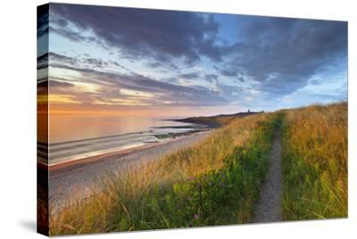 United Kingdom, Uk, Northumberland, Sunrise at Dunstanburgh Castle-Fortunato Gatto-Stretched Canvas Print
