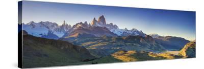 Argentina, Patagonia, El Chalten, Los Glaciares National Park, Cerro Torre and Cerro Fitzroy Peaks-Michele Falzone-Stretched Canvas Print