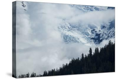 Cloud-Obscured Mountains Along Endicott Arm, Ford's Terror Wilderness, Inside Passage, Alaska-Michael Melford-Stretched Canvas Print