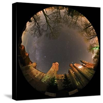 Night Sky over Neuschwanstein Castle Including the Milky Way, Vega, and the Summer Triangle-Babak Tafreshi-Stretched Canvas Print