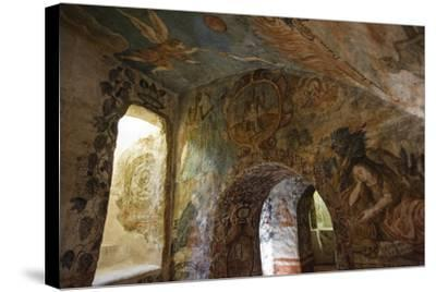 Spectacular Frescos Cover an Underground Chapel at the Convent of Santa Clara, Cusco-Beth Wald-Stretched Canvas Print
