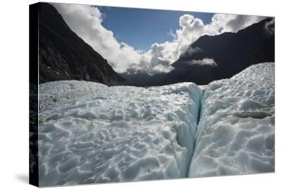 Fox Glacier in Retreat from a Warming Climate-Michael Melford-Stretched Canvas Print
