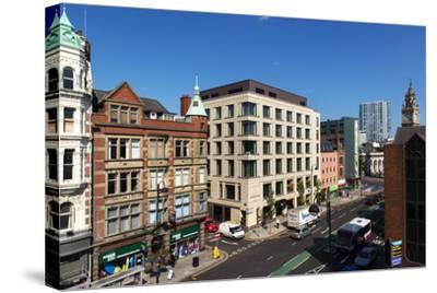 High Angle View of High Street in Belfast-Chris Hill-Stretched Canvas Print