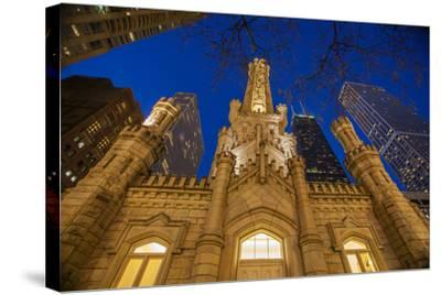 The Old Water Tower and Chicago Skyline in 2013-Richard Nowitz-Stretched Canvas Print