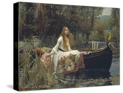 The Lady of Shalott-John William Waterhouse-Stretched Canvas Print