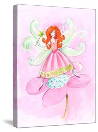 Fairy Red Hair--Stretched Canvas Print
