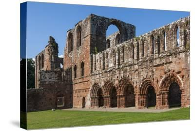 Elaborate Carved Stone Arches, 12th Century St. Mary of Furness Cistercian Abbey, Cumbria, England-James Emmerson-Stretched Canvas Print