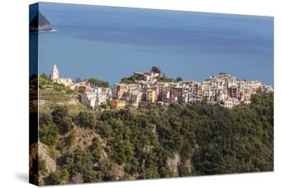 The Village of Corniglia in the Cinque Terre, UNESCO World Heritage Site, Liguria, Italy, Europe-Julian Elliott-Stretched Canvas Print