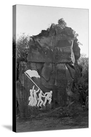 Sculpture of the Fall of Iwo Jima--Stretched Canvas Print