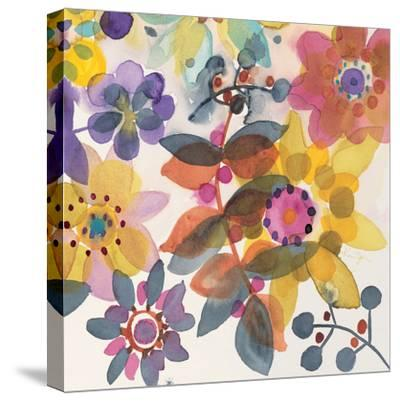 Candy Flowers 2-Karin Johannesson-Stretched Canvas Print