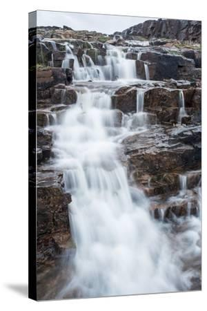 Waterfall, Hudson Bay, Nunavut, Canada-Paul Souders-Stretched Canvas Print