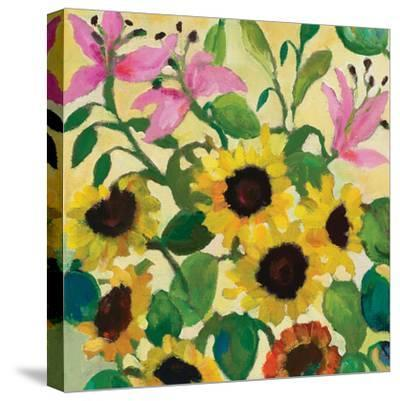 Sunflowers and Pink Lilies-Kim Parker-Stretched Canvas Print