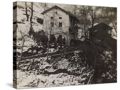 Buildings of the Section of Health in the Valley Doblar During the First World War-Luigi Verdi-Stretched Canvas Print