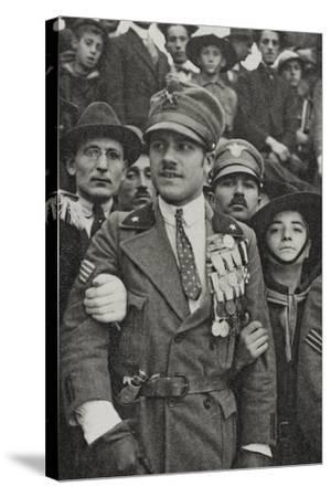 Visions of War 1915-1918: War Hero with Many Medals in the Chest-Vincenzo Aragozzini-Stretched Canvas Print