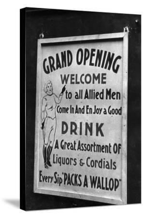 Billboard for a Party in Honor of Allied Troops-Luigi Leoni-Stretched Canvas Print