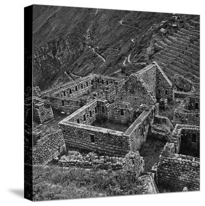 Ruins of Houses of the Lost City of the Incas, Machu Picchu, Peru-Pietro Ronchetti-Stretched Canvas Print
