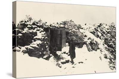 A Command Post on Monte Nero During World War I-Ugo Ojetti-Stretched Canvas Print