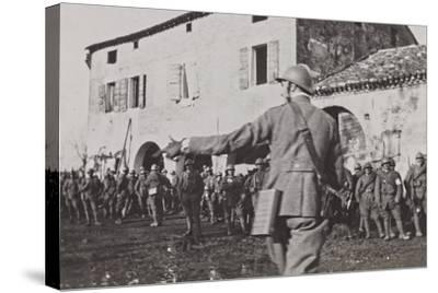 Campagna Di Guerra 1915-1916-1917-1918: Soldiers During the Battle of the Piave Fagaré--Stretched Canvas Print