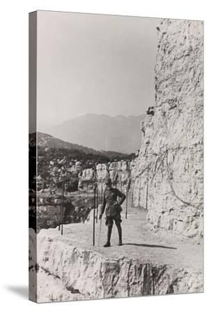 World War I: The Path Roccione of the Grenadiers, Monte Cengio--Stretched Canvas Print