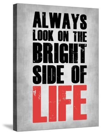 Bright Side of Life  Grey-NaxArt-Stretched Canvas Print