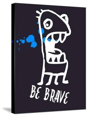 Be Brave 2-Lina Lu-Stretched Canvas Print