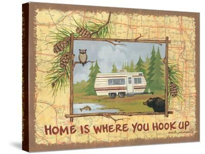 Home Is Where You Hook Up-Anita Phillips-Stretched Canvas Print