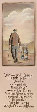 Grandpa-Karen Tribett-Stretched Canvas Print