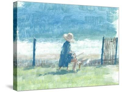 Painting the Sea-Lincoln Seligman-Stretched Canvas Print