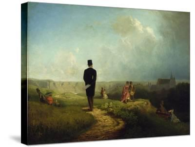 The Bachelor-Carl Spitzweg-Stretched Canvas Print