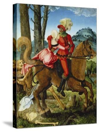 The Knight, the Young Girl and Death-Hans Baldung-Stretched Canvas Print
