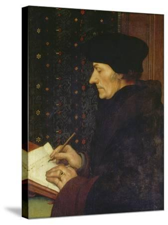 Erasmus of Rotterdam, 1523-Hans Holbein the Younger-Stretched Canvas Print