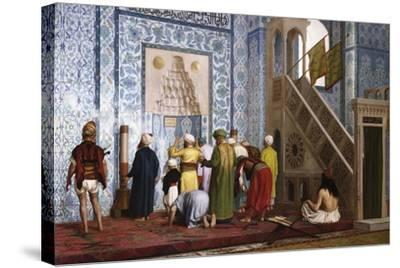 The Blue Mosque, 1878-Jean-L?on G?rome-Stretched Canvas Print