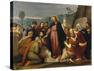 The Raising of Lazarus, 1808-Johann Friedrich Overbeck-Stretched Canvas Print
