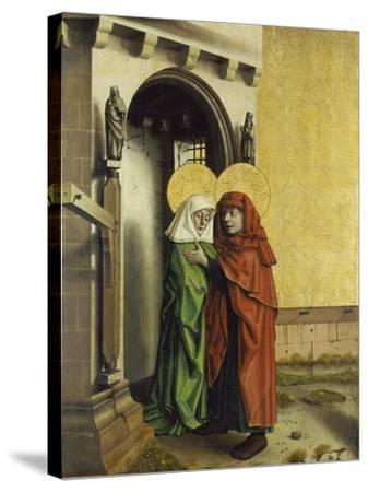 The Meeting of Anna and Joachim at the Golden Gate, C. 1440-Konrad Witz-Stretched Canvas Print