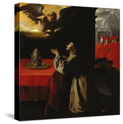 St, Bonaventura Praying, 1629-Francisco Zurbaran y Salazar-Stretched Canvas Print