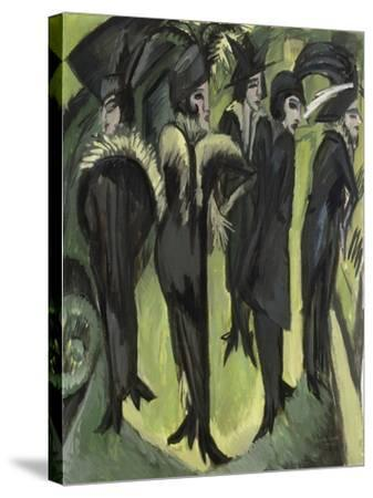 Five Women on the Street, 1913-Ernst Ludwig Kirchner-Stretched Canvas Print